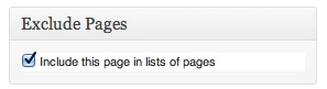 Page Exclusion
