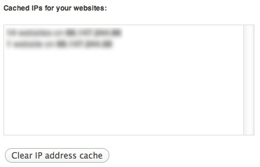 Cached IP Addresses