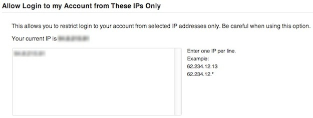 Login IP Restriction
