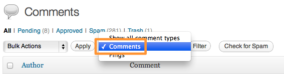 Filter By Comments