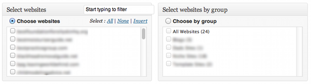 Select Websites
