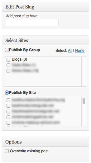 New Post/Page Options