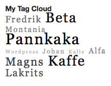 Ultimate Tag Cloud Widget
