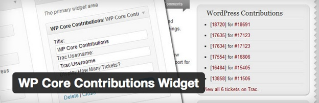 WP Core Contributions Widget