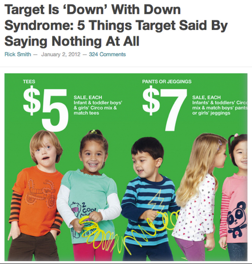 Target Is 'Down' With Down Syndrome: 5 Things Target Said By Saying Nothing At All
