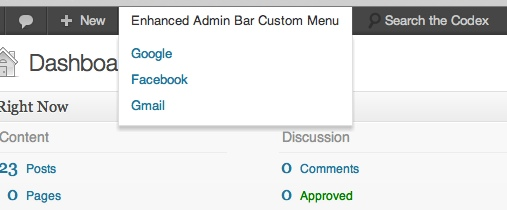 Enhanced Admin Bar