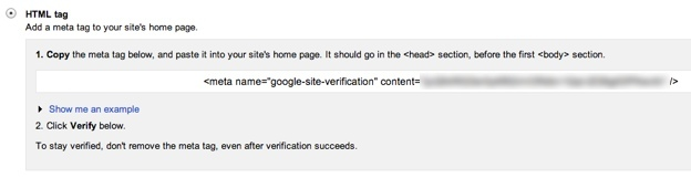 Verifying Your Site