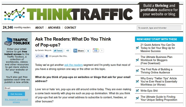 Think Traffic (Old Design)