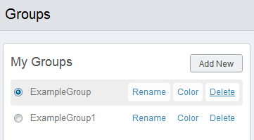 Delete groups