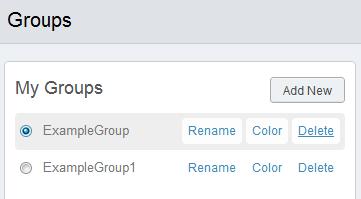 Delete groups