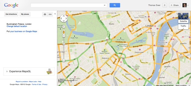 Google Maps (Desktop Display)