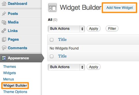 Wordpress Widgets With Widget Builder