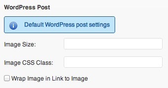 Instagrate to WordPress Settings