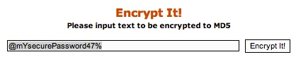 MD5 Encryption