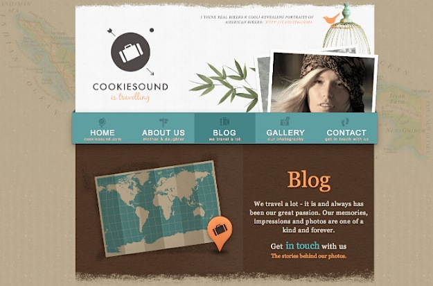 Cookiesound is Travelling - Beautiful WordPress Design