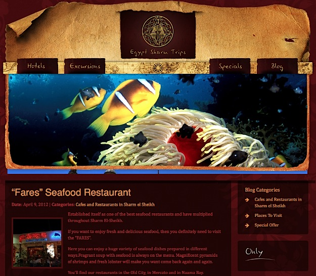 Egypt Sharm Trips - Beautiful WordPress Design