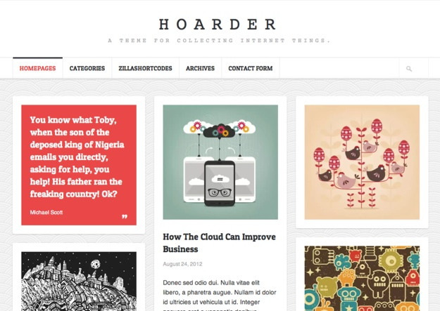 Hoarder Personal WordPress Theme