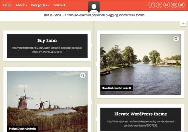 Sann Personal WordPress Theme