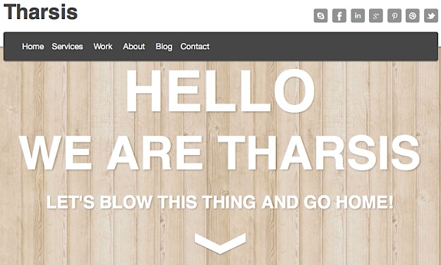 Tharsis Fixed Navigation WordPress Theme