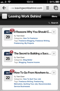 Leaving Work Behind WPtouch Interface