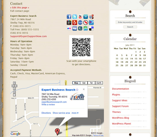 Local Search SEO Contact Page WordPress plugin.