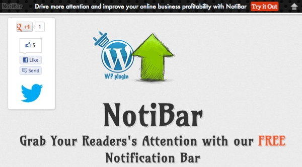 Notibar for WordPress