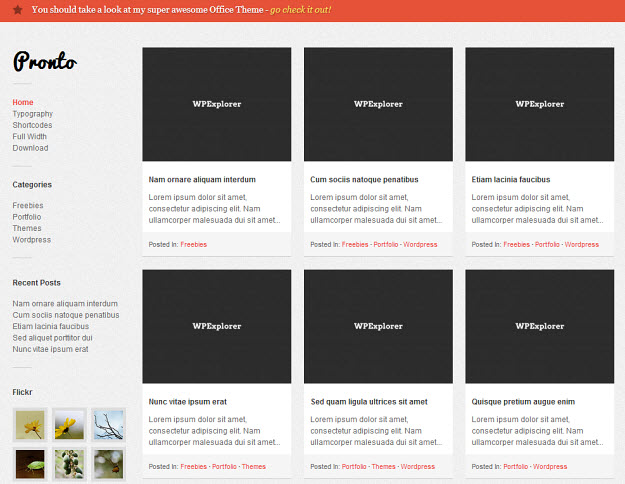 Pronto Free WordPress Theme