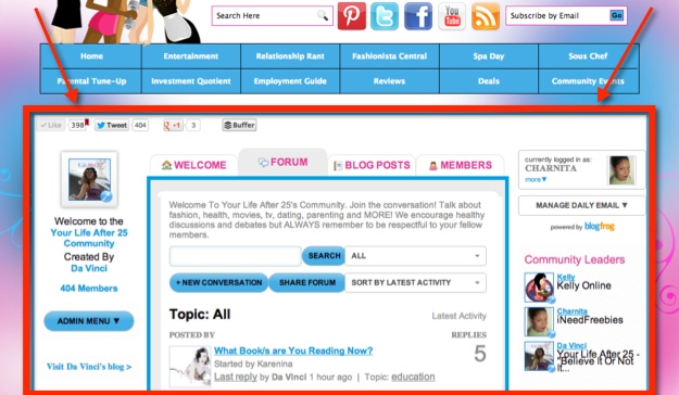 TheBlogFrog Embedable Forum WordPress