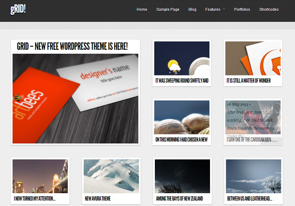 gRid Free WordPress Theme