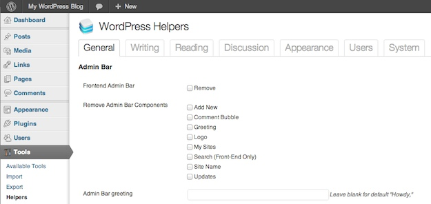 WordPress Helpers