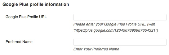 Add your Google Plus URL to your WordPress user profile.