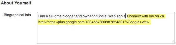 Add your Google+ URL to your author bio.