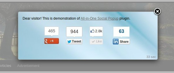 All-in-One Social Popup - Premium WordPress Plugin