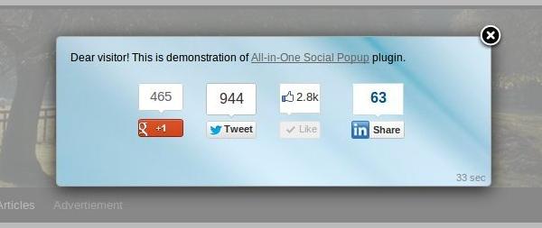 All-in-One Social Popup - Premium WordPress Plugin