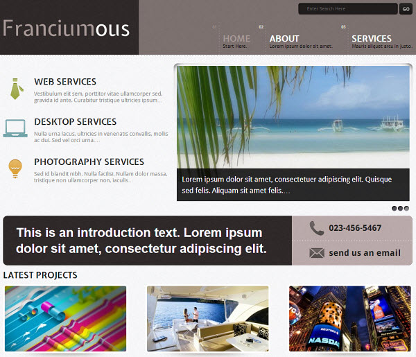 Franciumous Portfolio WordPress Theme