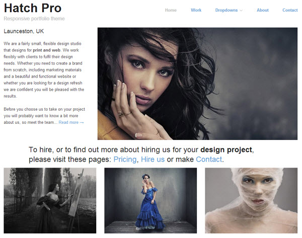 Hatch Pro Portfolio WordPress Theme