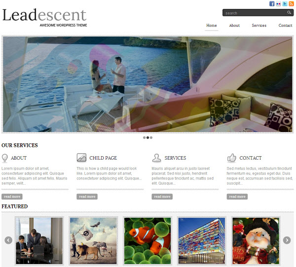 Leadescent Portfolio WordPress Theme