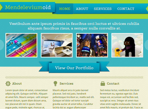 Mendeleviumoid Portfolio WordPress Theme