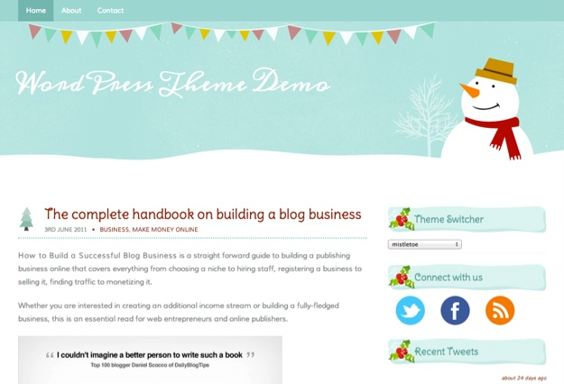 Mistletoe WordPress Theme