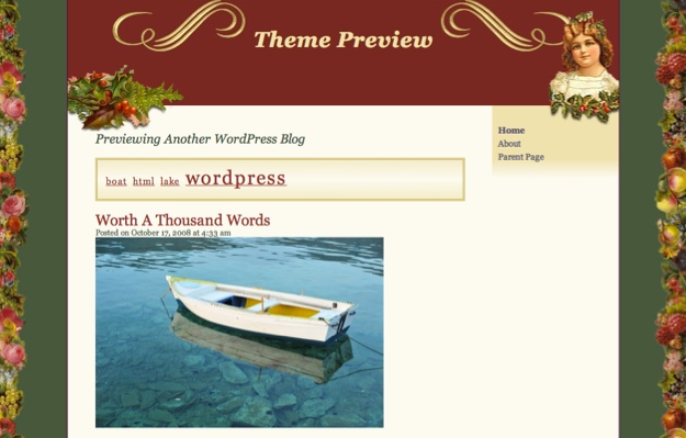 Victorian Xmas WordPress Theme