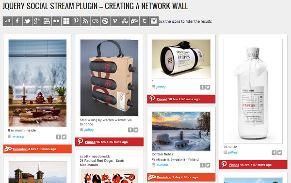WordPress Social Stream Plugin