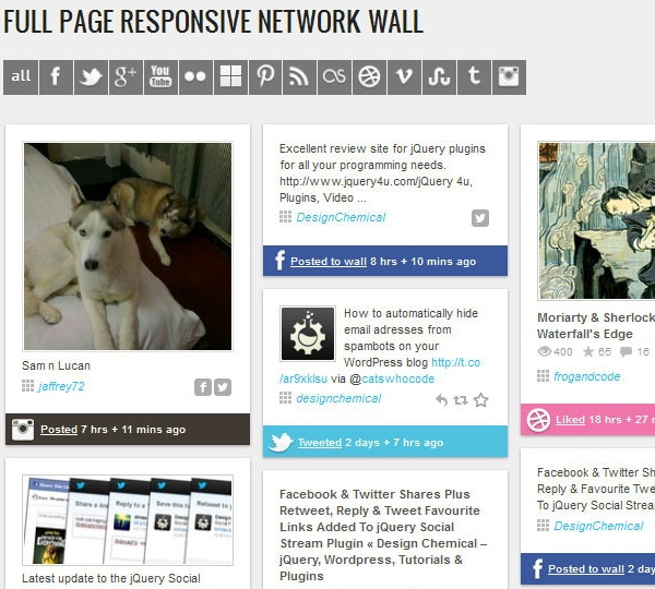 WordPress Social Stream - Premium WordPress Plugin