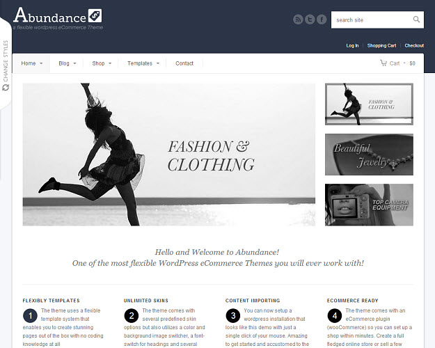 Abundance eCommerce WordPress Theme
