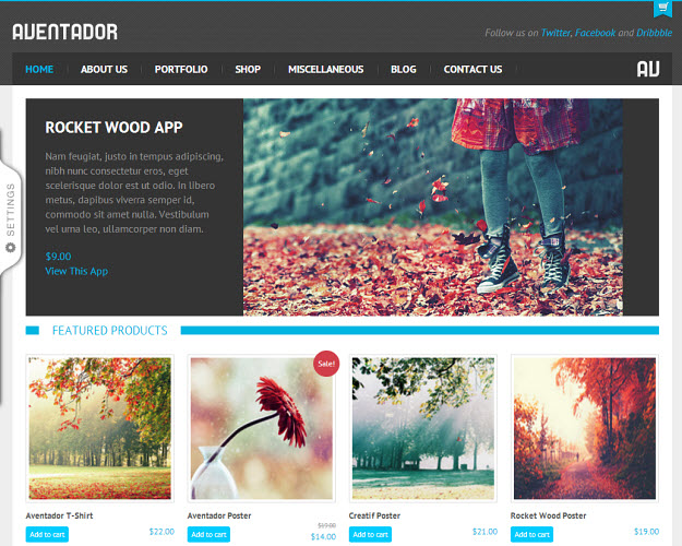Aventador eCommerce WordPress Theme