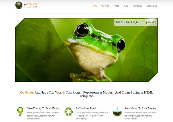 Go Green WordPress Theme