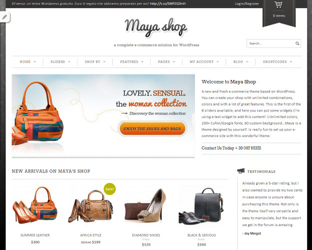 MayaShop eCommerce WordPress Theme