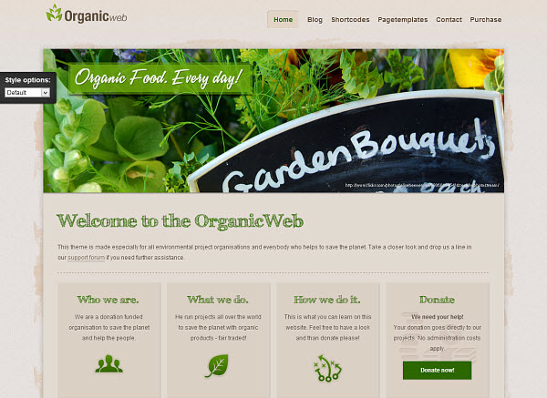 Organic Web WordPress Theme
