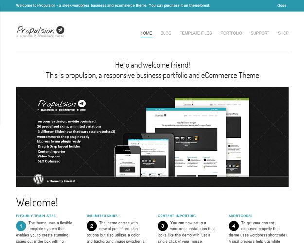 Propulsion eCommerce WordPress Theme