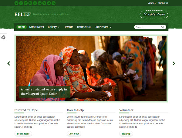 Relief WordPress Theme