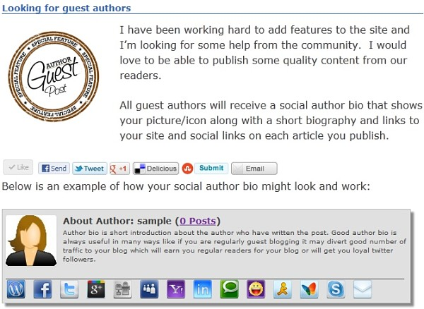 Social Author Bio WordPress plugin